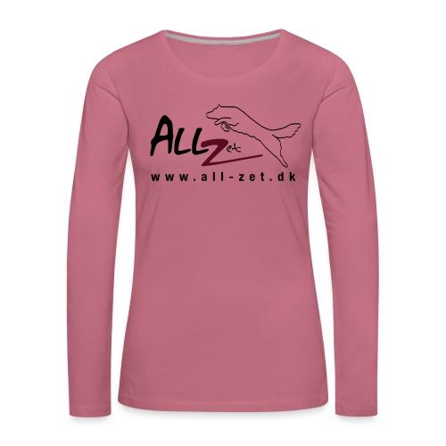 All Zet Logo - Dame premium T-shirt med lange ærmer