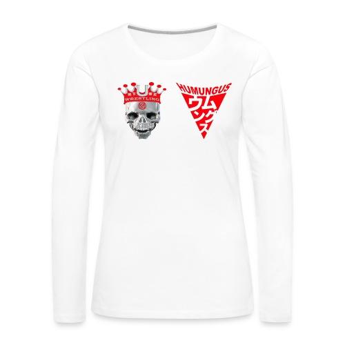 skull krone humungus3 png - Frauen Premium Langarmshirt