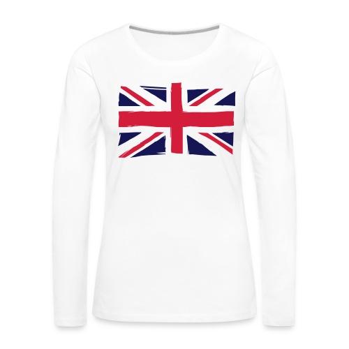 vlag engeland - Vrouwen Premium shirt met lange mouwen