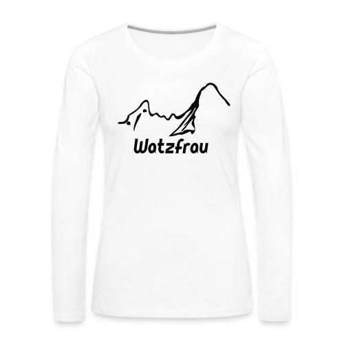 Watzfrau - Frauen Premium Langarmshirt