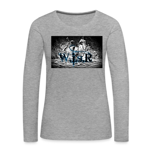 Naisten T-Paita - Naisten premium pitkähihainen t-paita