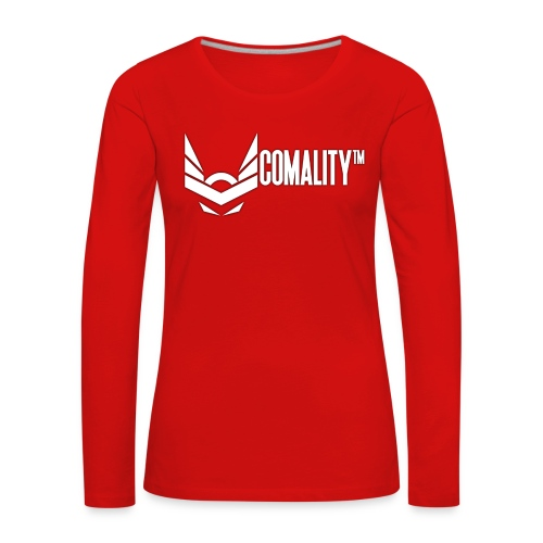 COFEE   Comality - Vrouwen Premium shirt met lange mouwen