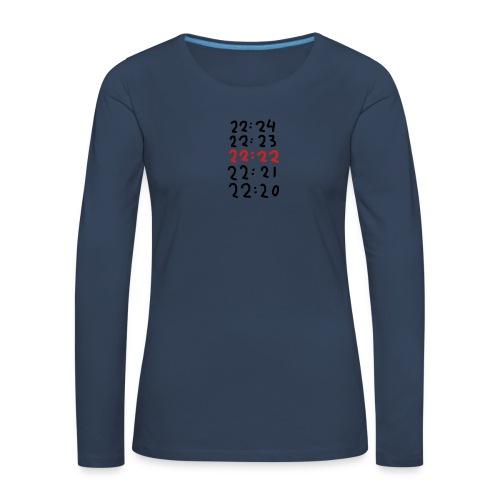 Wacht op de tijd - Vrouwen Premium shirt met lange mouwen