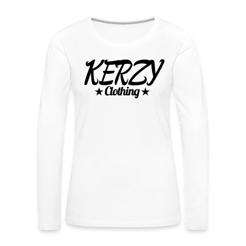 Official KerzyClothing T-Shirt Black Edition - Women's Premium Longsleeve Shirt