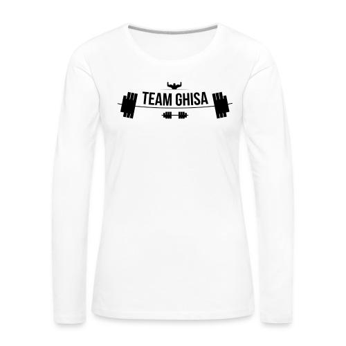 TEAMGHISALOGO - Maglietta Premium a manica lunga da donna
