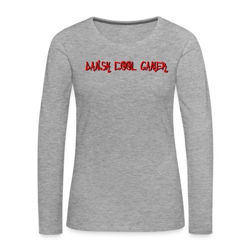 Dansk cool Gamer - Dame premium T-shirt med lange ærmer
