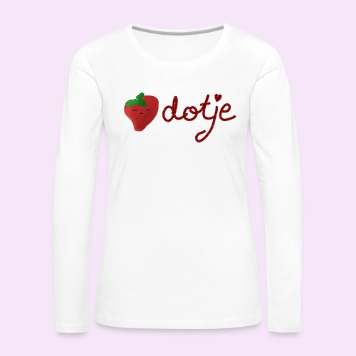 Baby aardbei Dotje - cute - Vrouwen Premium shirt met lange mouwen