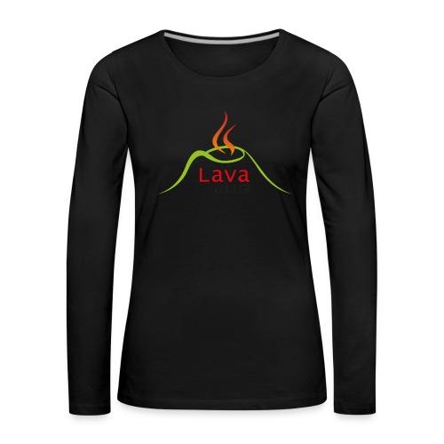 logo lavajug black - T-shirt manches longues Premium Femme