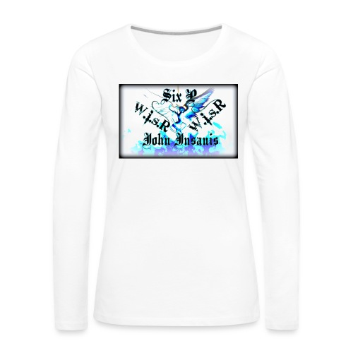Six P & John Insanis WISR -Huppari- - Naisten premium pitkähihainen t-paita