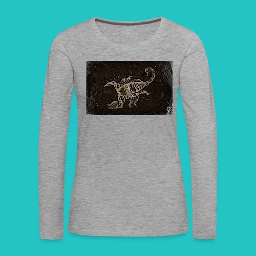 skorpion_grafika-jpg - Koszulka damska Premium z długim rękawem