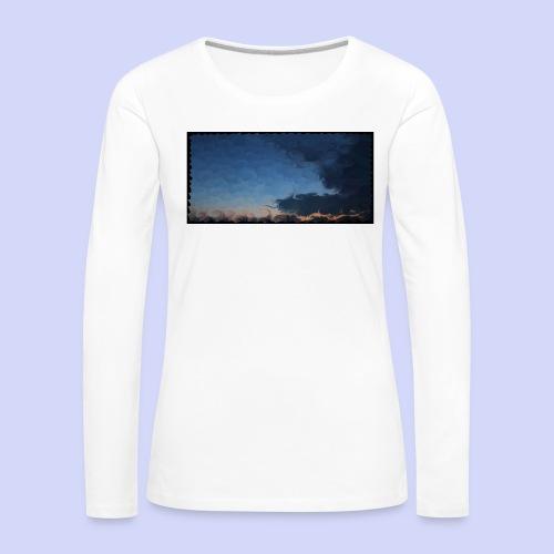 Sunset lovers - Morning tea cup - Dame premium T-shirt med lange ærmer