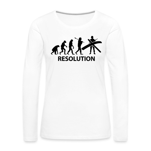 Resolution Evolution Army - Women's Premium Longsleeve Shirt