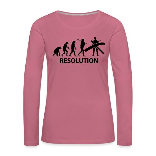 Resolution Evolution Army - Women's Premium Longsleeve Shirt