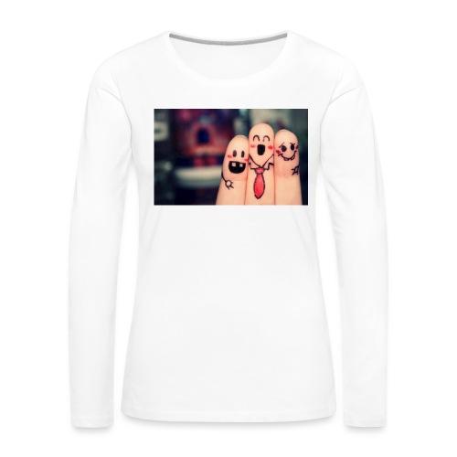 słodkie palce - Koszulka damska Premium z długim rękawem