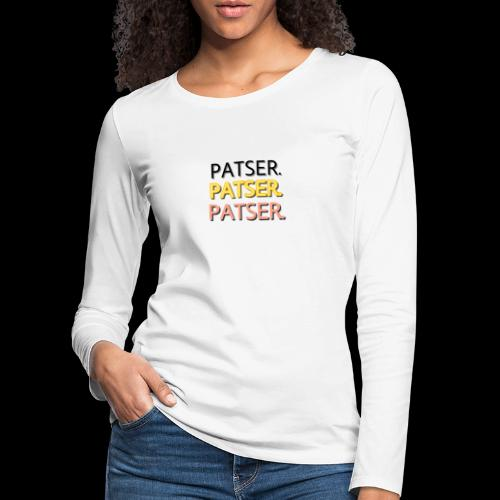 PATSER GOUD - Vrouwen Premium shirt met lange mouwen