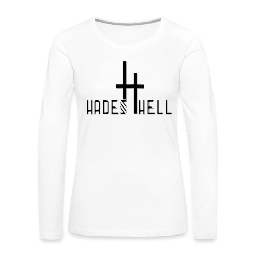 hadeshell black 3D - Frauen Premium Langarmshirt