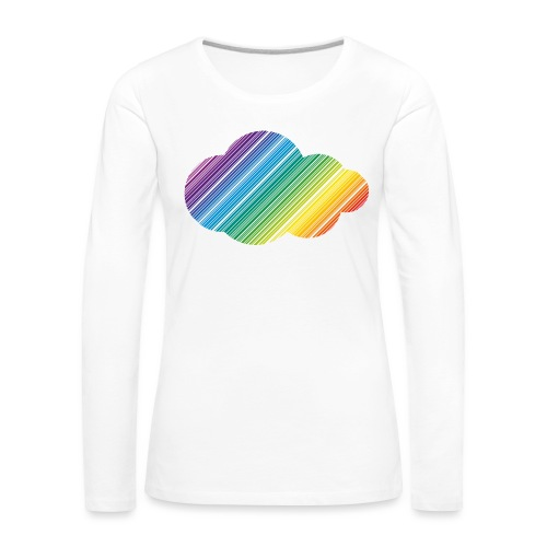 Regnbågsmoln - Långärmad premium-T-shirt dam