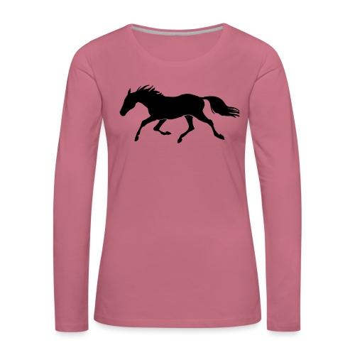 Cavallo - Maglietta Premium a manica lunga da donna