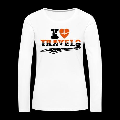 i love travels surprises 2 col - Women's Premium Longsleeve Shirt