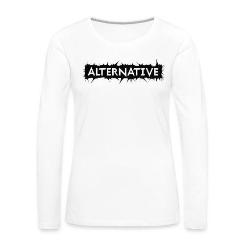 Spike T-shirt White - Koszulka damska Premium z długim rękawem
