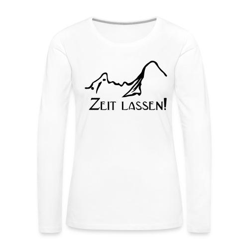 Watze-Zeitlassen - Frauen Premium Langarmshirt