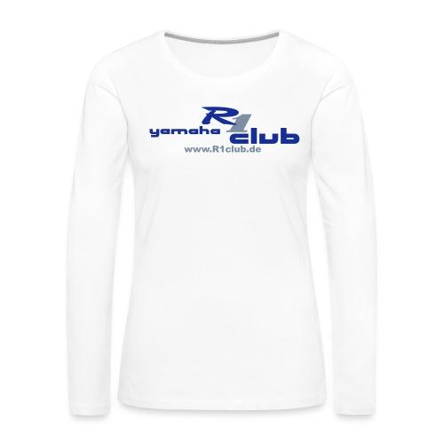 R1club Logo blau - Frauen Premium Langarmshirt