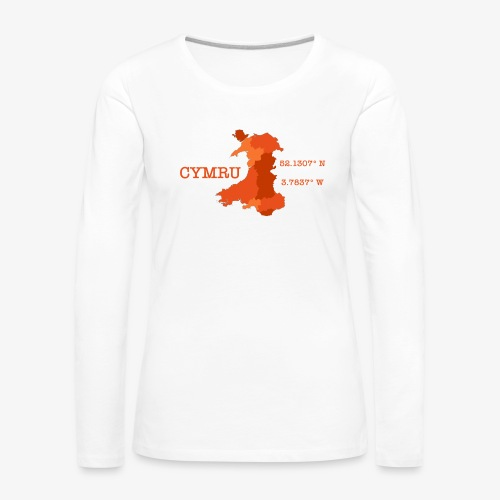 Cymru - Latitude / Longitude - Women's Premium Longsleeve Shirt