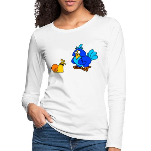 Schnecke und Vogel von dodocomics - Frauen Premium Langarmshirt