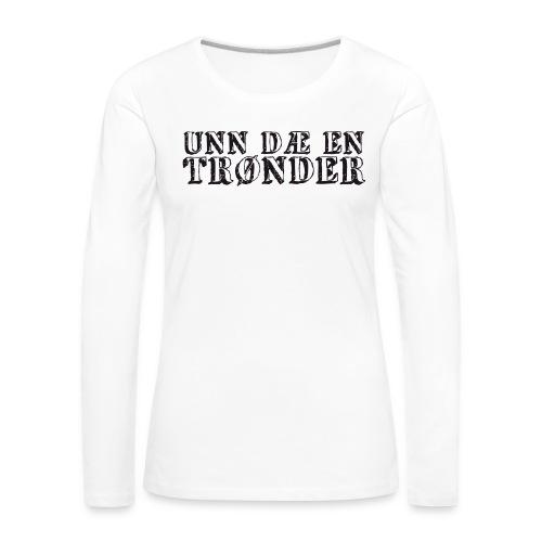 unndae - Premium langermet T-skjorte for kvinner