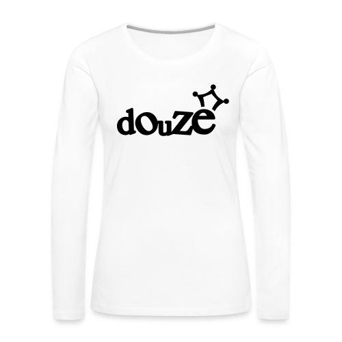 logo_douze - T-shirt manches longues Premium Femme
