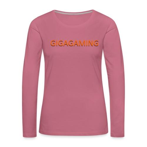 GIGAGAMING - Dame premium T-shirt med lange ærmer