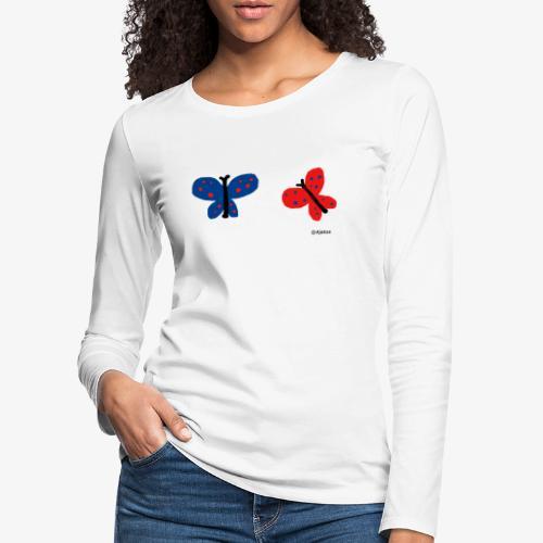 Perhoset - Naisten premium pitkähihainen t-paita