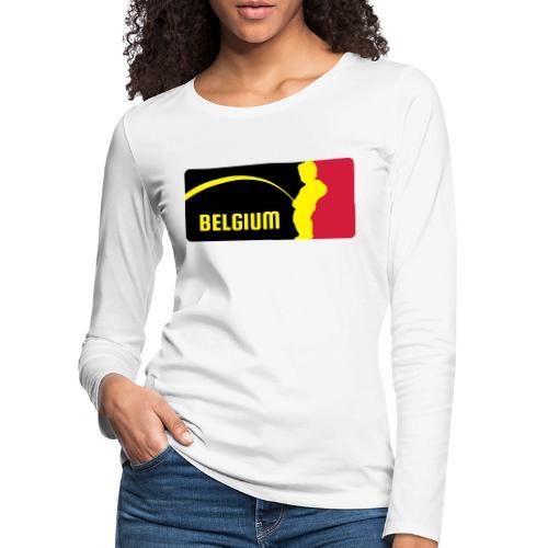 Mannekke Pis, Belgium Rode duivels - Belgium - Bel - T-shirt manches longues Premium Femme