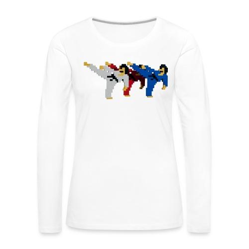 8 bit trip ninjas 2 - Women's Premium Longsleeve Shirt