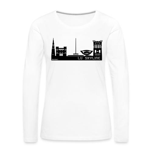 Lu skyline de Terni - Maglietta Premium a manica lunga da donna