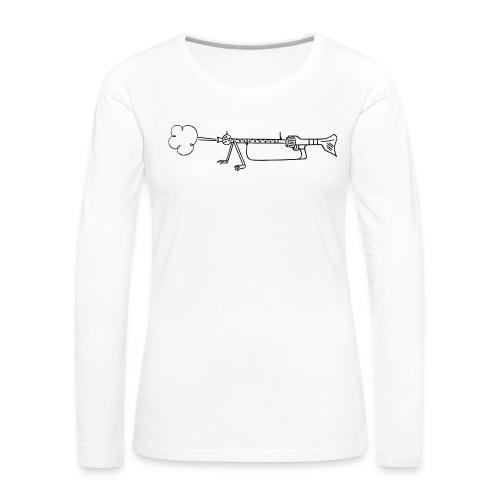 Maschinengewehr 34 - Frauen Premium Langarmshirt