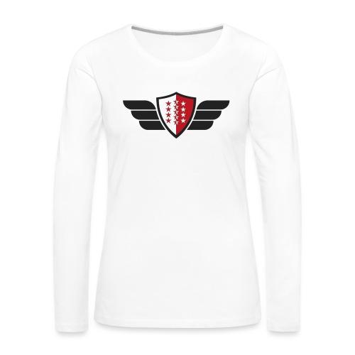 Flying Valais - Walliser Flagge mit Flügeln - Frauen Premium Langarmshirt