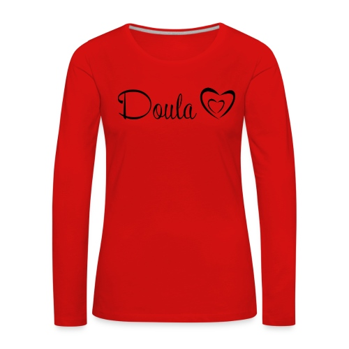 doula sydämet - Naisten premium pitkähihainen t-paita