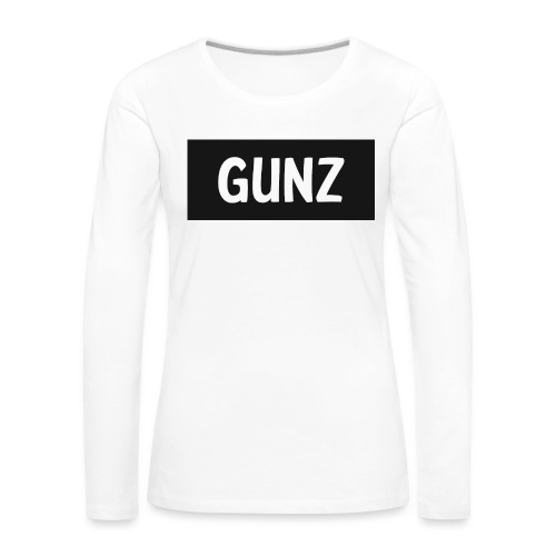 Gunz - Dame premium T-shirt med lange ærmer