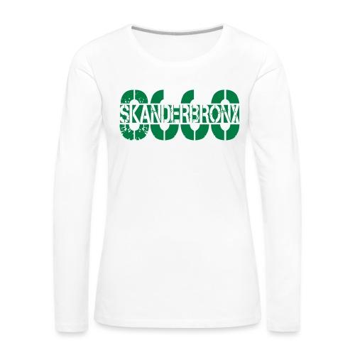 SKANDERBRONX - Dame premium T-shirt med lange ærmer