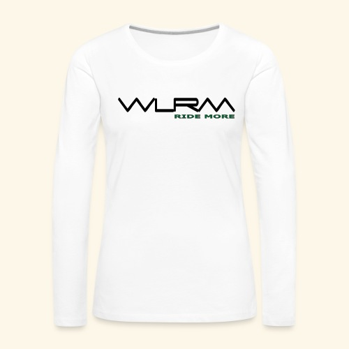 WLRM Schriftzug black png - Frauen Premium Langarmshirt