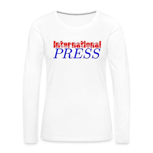 int_press-png - Maglietta Premium a manica lunga da donna