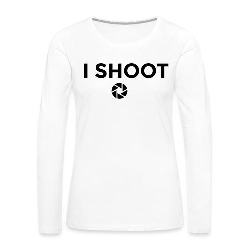 I shoot people - Women's Premium Longsleeve Shirt