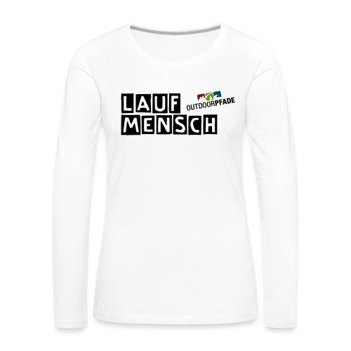 LaufMensch#01 - Frauen Premium Langarmshirt