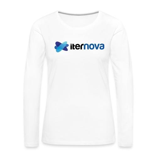 ITERNOVA - Camiseta de manga larga premium mujer