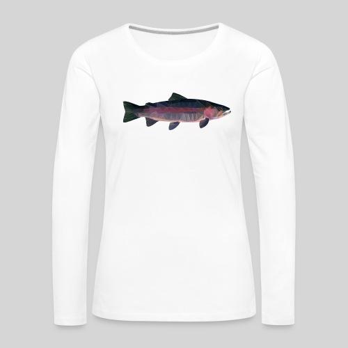 Trout - Naisten premium pitkähihainen t-paita