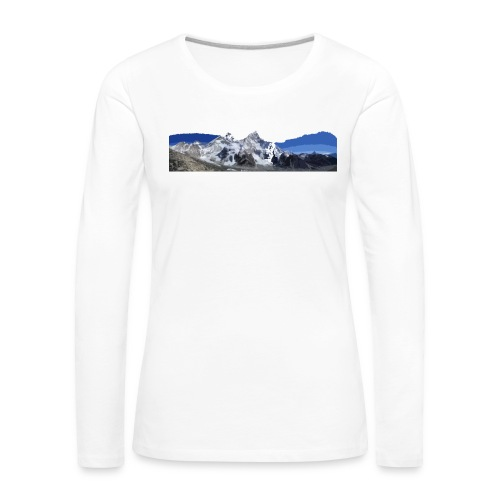 MOUNTAINS - Maglietta Premium a manica lunga da donna