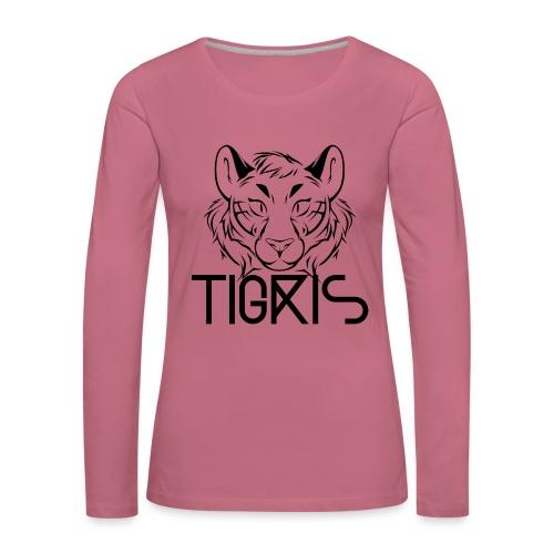 Tigris Logo Picture Text Black - Women's Premium Longsleeve Shirt