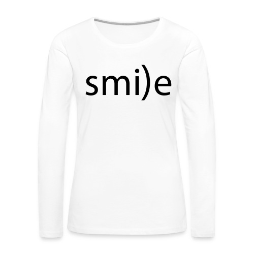 smile Emoticon lächeln lachen Optimist positiv yes - Women's Premium Longsleeve Shirt