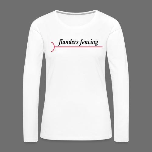 Flanders Fencing - Vrouwen Premium shirt met lange mouwen